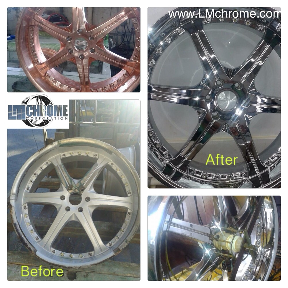 lm before after chrome plating wheels - LM Chrome Corp - A Chrome